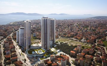 ASIAN SIDE KARTAL REGION NEW PROJECT APARTMENTS WITH VIEW OF ISLANDS